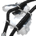 Large All Sterling Silver Bolo Tie Artist Signed 32991