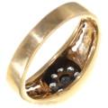 Diamonds 9 Stone Vintage Gold Ring 39220
