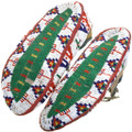 Handmade Native American Sioux Beaded Leather Moccasins 39222