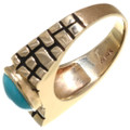 Turquoise Gemstone Real Gold Ring 39225