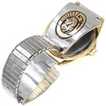 Authentic Navajo Eagle Design Overlay Silver Gold Watch 39243