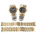 Silver Gold Overlay Kokopelli Watch Ends 39245