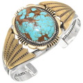 Number 8 Turquoise Silver Gold Bracelet 27035