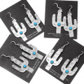 Sterling Silver Cactus Navajo Made Southwest Earrings 39253
