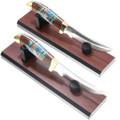 Ironwood Turquoise Inlay Handle Knife 39261