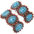Spiderweb Turquoise Coral Bracelet 23373