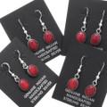 Red Coral Dangle Earrings 39271