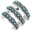 Sterling Silver Kingman Turquoise Southwest Bracelet 39294