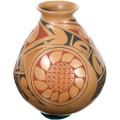Mata Ortiz Polychrome Sunflower Pottery 39303
