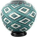 Hand Painted Turquoise Pottery 39309