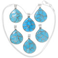 Sleeping Beauty Turquoise Inlay Native American Pendants 39321