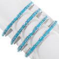 Sleeping Beauty Turquoise Zuni Bracelet Artist Sheldon Lalio 39324