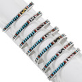 Inlay Coral Shell Sleeping Beauty Turquoise Bracelet 39325