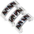 Inlaid Geometric Zuni Pattern Silver Bracelet 39328