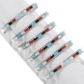 Sleeping Beauty Turquoise Coral Mother of Pearl Multi Stone Bracelet 39329