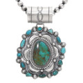 Navajo Green Turquoise Pendant Necklace 39335