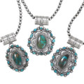 High Grade Turquoise Hand Crafted Sterling Silver Navajo Necklaces 39335