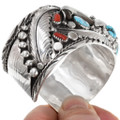 Sterling Silver Bear Claw Western Cuff Bracelet 39350