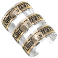 Life on the Reservation Bracelet Storyteller Scene Sterling Silver 14K Gold Fill 39354