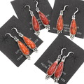 Natural Spiny Oyster Native American Earrings 39367