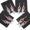 Navajo Artist Judy Largo Red Coral Earrings 39368