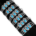 High Grade Sleeping Beauty Turquoise Navajo Bracelets 39374