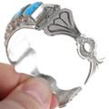 Sterling Silver Kingman Turquoise Navajo Made Bracelet 39376