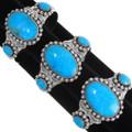 Large Turquoise Center Stone Navajo Cuff Bracelets 39378
