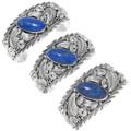 Lapis Lazuli Sterling Silver Navajo Cuff Bracelets 39382