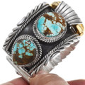 Natural Number 8 Turquoise Navajo Watch Bracelet 39386