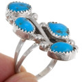 High Grade Kingman Turquoise Sterling Silver Rings 39391