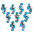 Gemmy Blue Turquoise Navajo Pointer Rings 39391