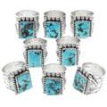 Vintage Sleeping Beauty Turquoise Silver Rings 39400