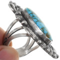 Santa Fe Style Sterling Silver Ring Gem Turquoise 39407