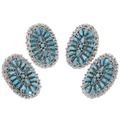Native American Turquoise Silver Rings 39410