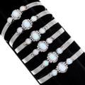 Fire Opal Sterling Silver Cuff Bracelets 39411