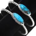 Gem Quality Kingman Turquoise Silver Bracelets 39414