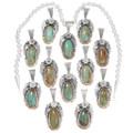 Green Turquoise Navajo Western Style Pendants 39423