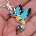 Zuni Hummingbird Design Turquoise Pendant 39426
