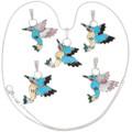 Inlay Gemstone Colorful Hummingbird Pendants 39426