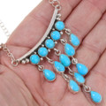 Navajo Sterling Silver Turquoise Necklace 39428