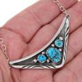 Native American Arizona Turquoise Vee Necklace 39429
