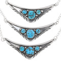 Silver Link Sleeping Beauty Turquoise Navajo Necklaces 39429