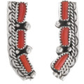 Matching Coral Earrings Navajo Made Jewelry Set