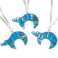 Native American Bear Symbol Turquoise Pendants 39437