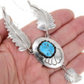 Native American Sterling Silver Turquoise Necklace 39438