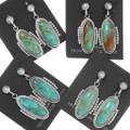 Sterling Silver Navajo Turquoise Dangle Earrings 39442