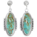 Green Turquoise Earrings 39442