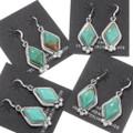 Southwest Green Turquoise Dangle Earrings French Hooks 39445