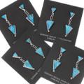 Triangular Turquoise Inlay Native American Earrings 39450